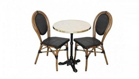 Bistro Set - Bistrotisch rund 60 cm mit 2 Stühlen
