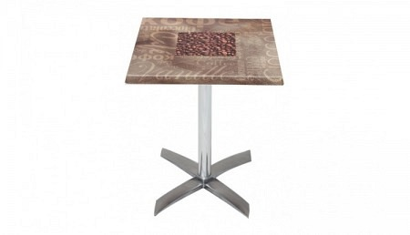 Table de bistrot 60 x 60 cm CHOCOLATE / COFFEE