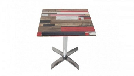 Table de bistrot 70 x 70 cm KBANA ROUGE