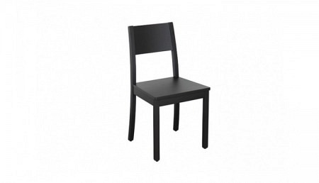 D Chaise en bois TRITON noir